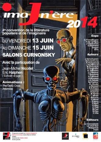 Affiche du festival Imaj'nère 2014 (thème steampunk)